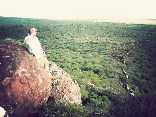 My dad teetering on the edge of a beautiful view. Nadia Krige