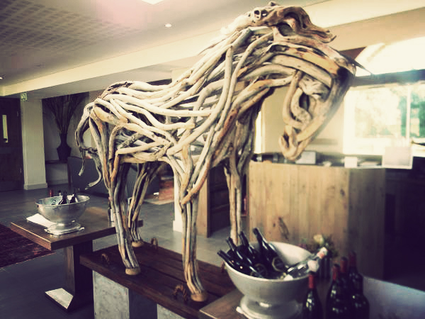 The driftwood horse I told you about. Isn't it awesome. I want one. Photo Nadia Krige