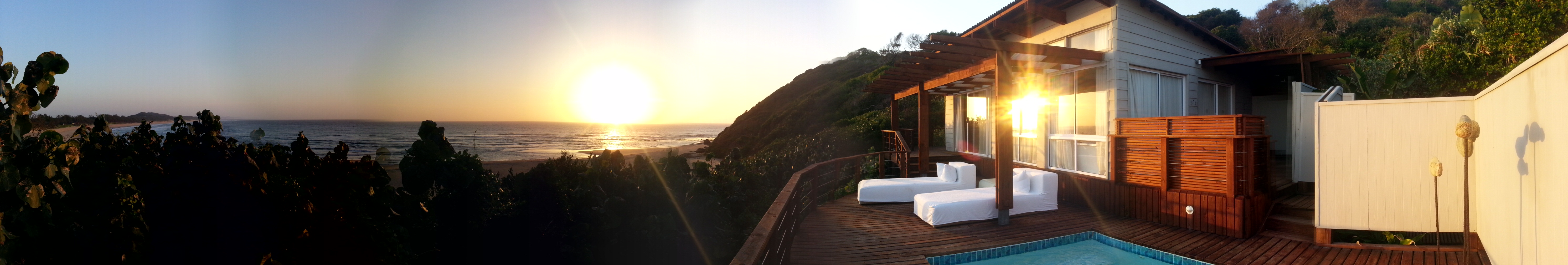 Panorama view from my exquisite suite.