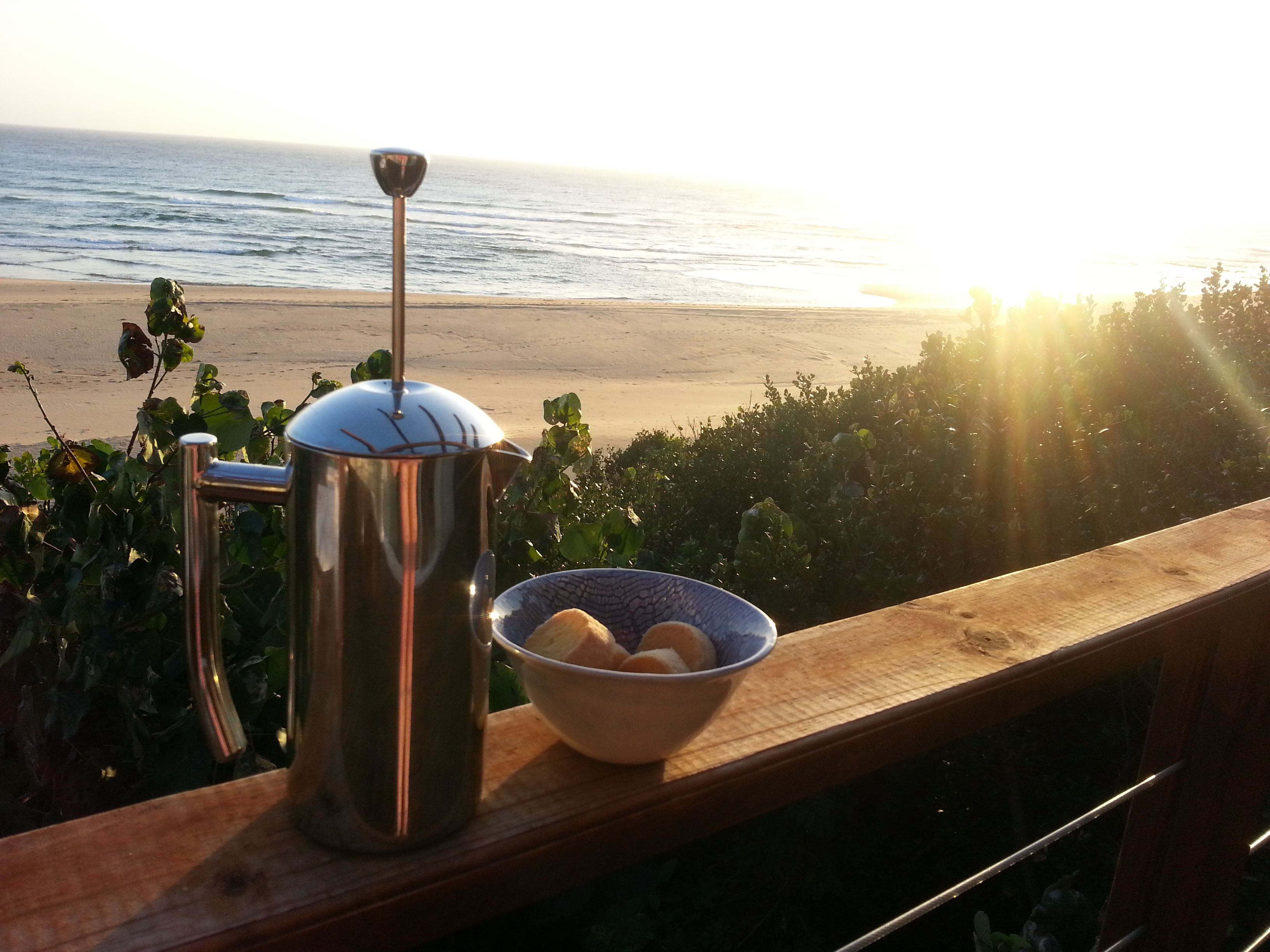 Morning coffee with a view and the best shortbread biscuits in the world.
