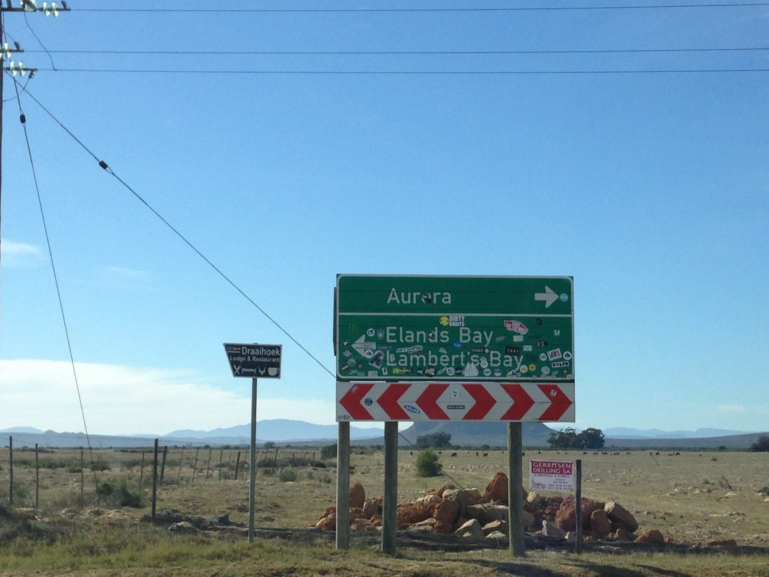 Elands Bay, Lamberts Bay, West Coast, South Africa, travel, gypsified, road tripping, south african road trip, road signs, backroad adventures in south africa