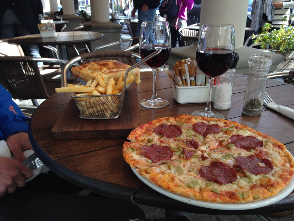 Stellenbosch, Java Cafe, Pizza, meal, winter adventures