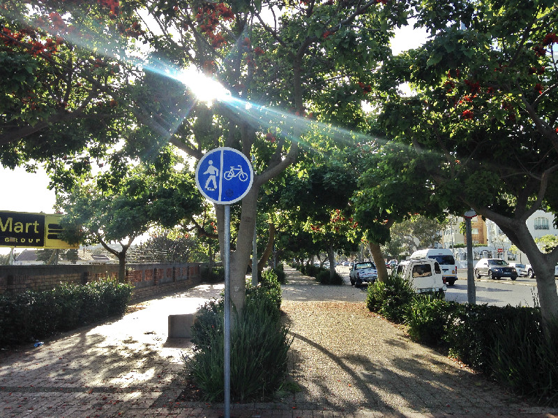 cape town, pedestrian walkway, green point, placemaking