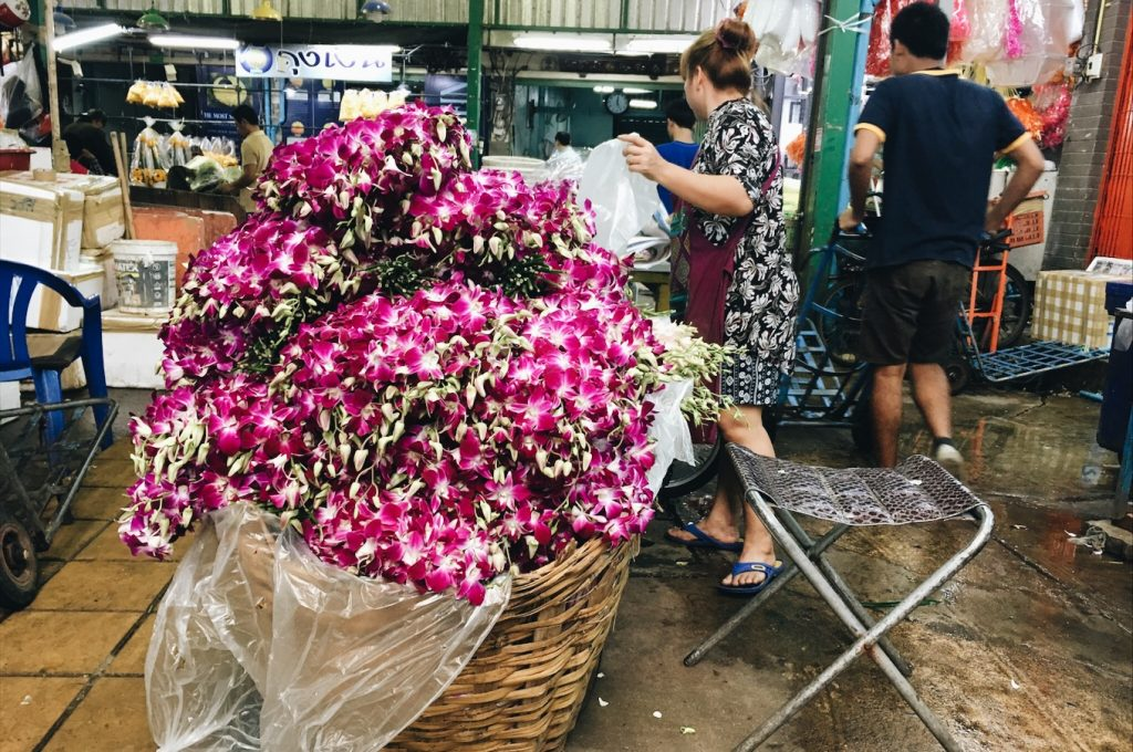 bangkok, flower market, gypsified